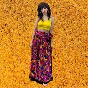 Dresses & Skirts - Vintage psychedelic maxi skirt